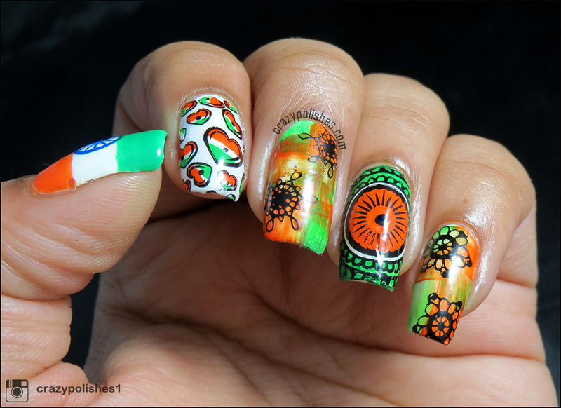 Indian Independence Day Nailart nail art by CrazyPolishes (Dimpal) - Indian Independence Day Nailart Nail Art By CrazyPolishes (Dimpal