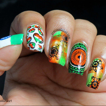 Indian 20independence 20day 20nailart thumb370f