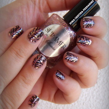 1,000,000 Nailpolis FB Fans Celebration nail art by Dora Cristina Fernandes