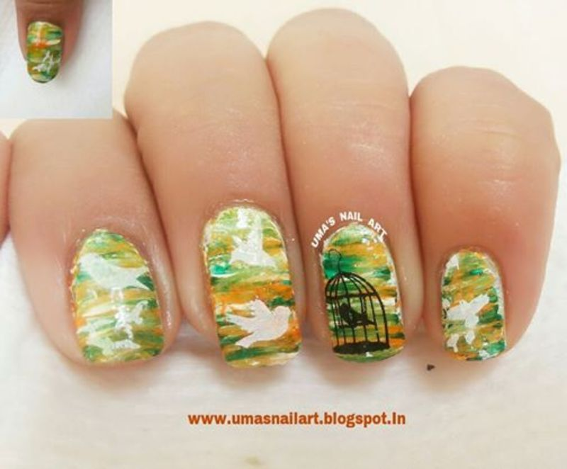 Independence Day nails nail art by Uma mathur