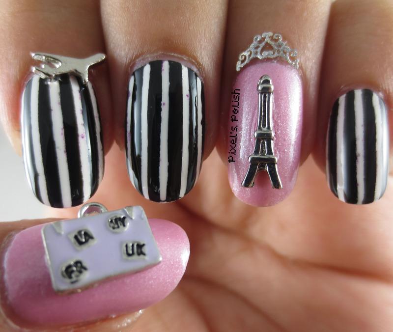 Bonjour Paris! nail art by Pixel's Polish