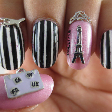 Bonjour Paris! nail art by Pixel's Polish