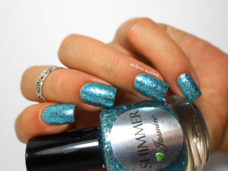 Shimmer Polish Jasmine Swatch by melyne nailart
