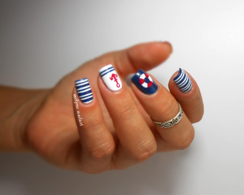 nautical nails nail art by melyne nailart