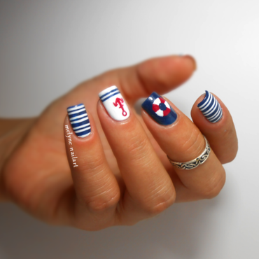 nautical nails nail art by melyne nailart