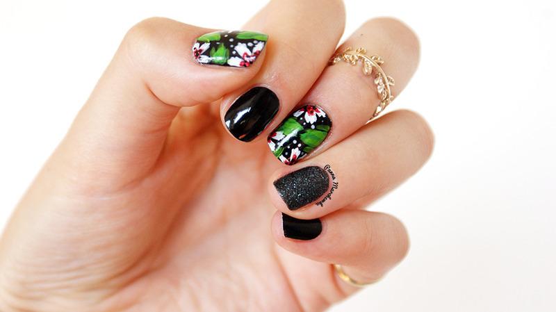 Wild jungle nail art by Panna Marchewka