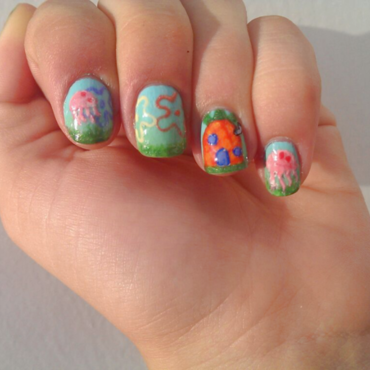 Spongebob nail art by GepeNails