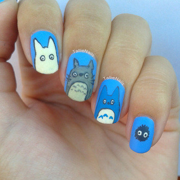 My Neighbor Totoro Nail Art nail art by Tallie