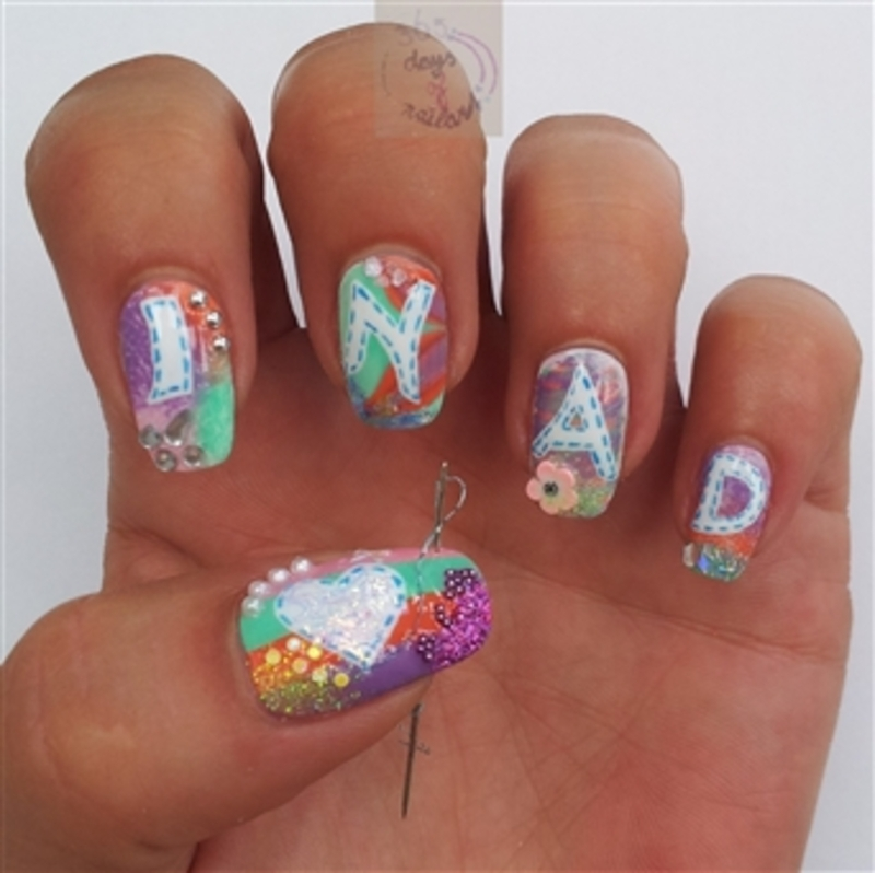 INAD (Internatiol Nail Art Day) nails nail art by Margriet Sijperda