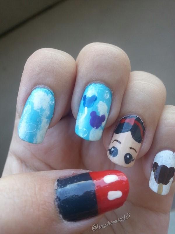 Disney Nails nail art by KiboSanti