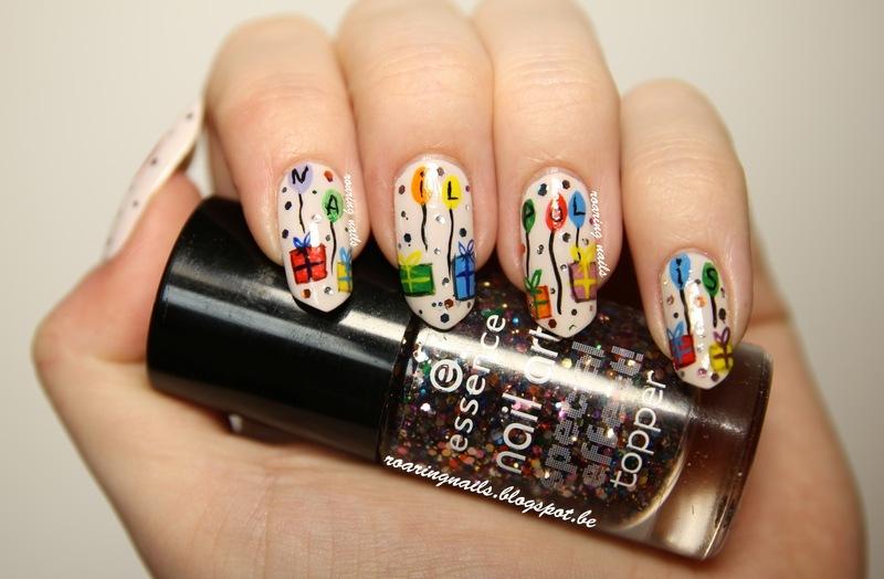 Let's Celebrate Nailpolis! nail art by Robin