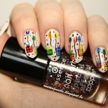 Let's Celebrate Nailpolis! nail art by Robin