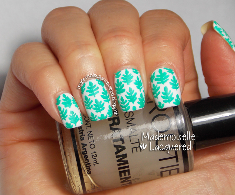 Aquamarine Nail Art Pattern nail art by Emilia