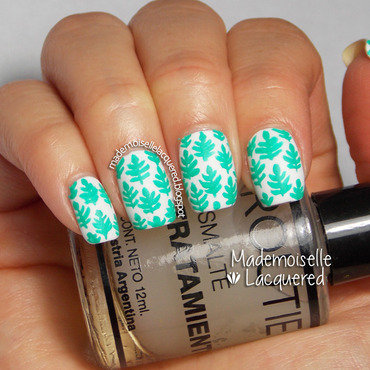 Aquamarine Nail Art Pattern nail art by Emilia