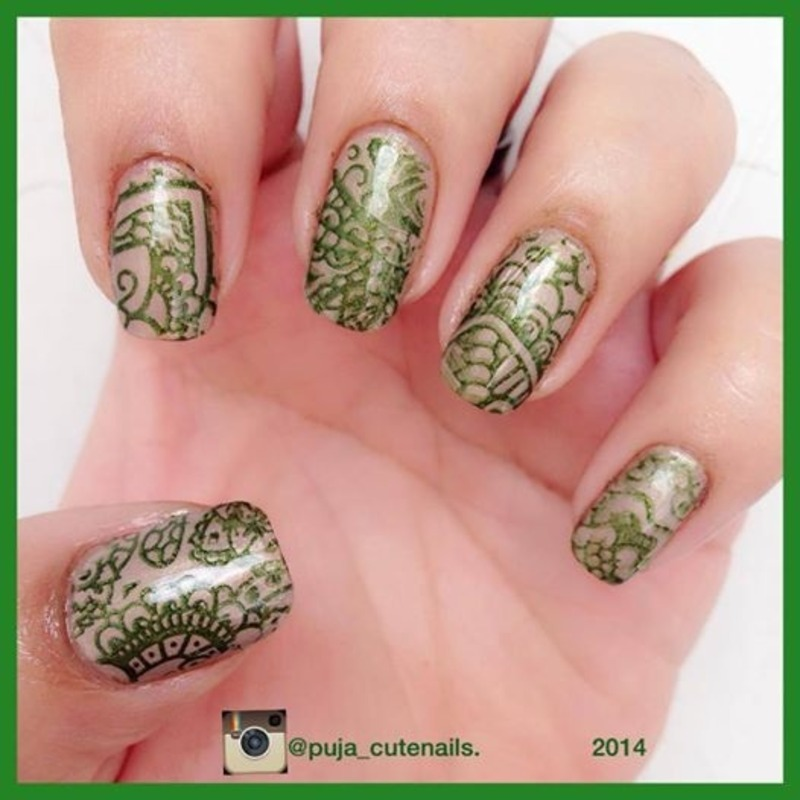Heena inspired nailart nail art by Puja Malhotra