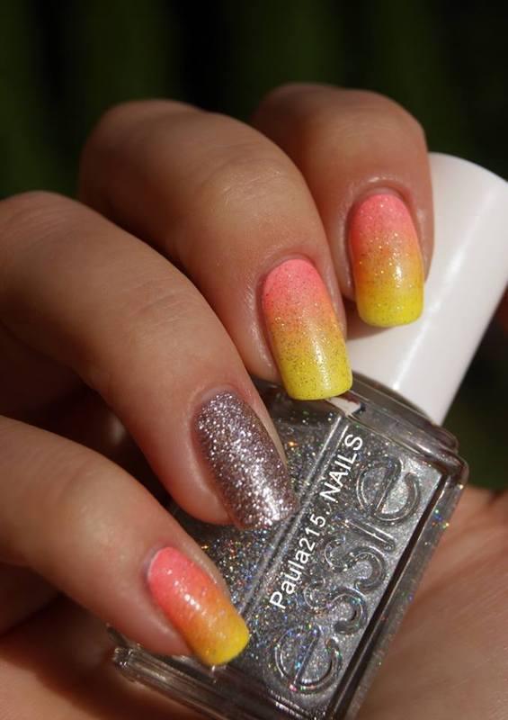 Ombre. nail art by Paula215. NAILS