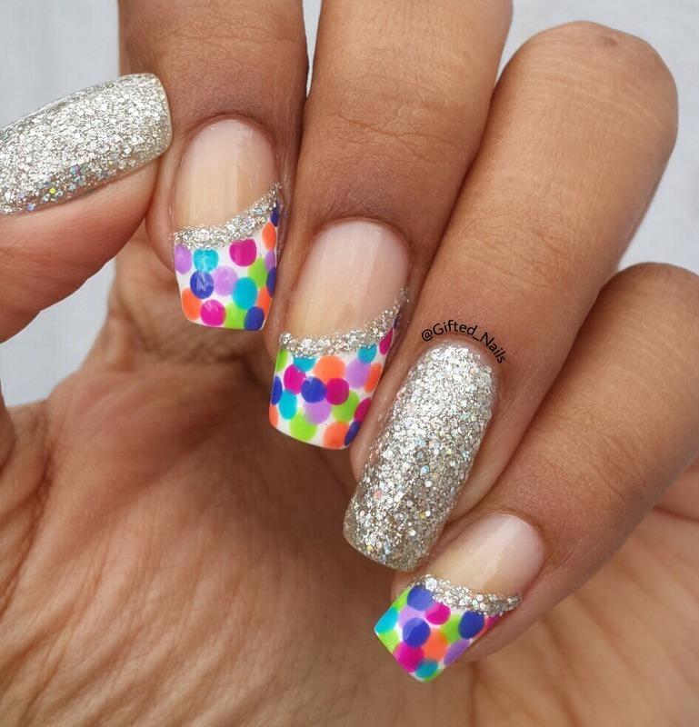 Confetti nails nail art by Gifted_nails