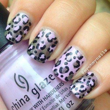 Purple leopard nail art by Niki My Oh My Nails