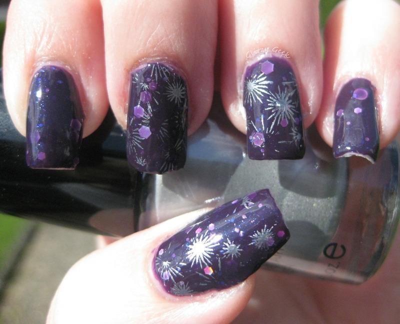 Celebration nail art by Andi
