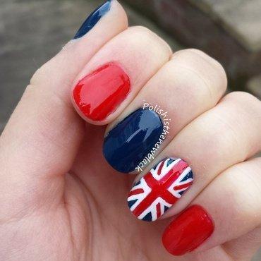 Union Jack nails  nail art by Polishisthenewblack