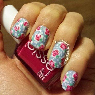 Cath Kidston floral nail art by Polishisthenewblack