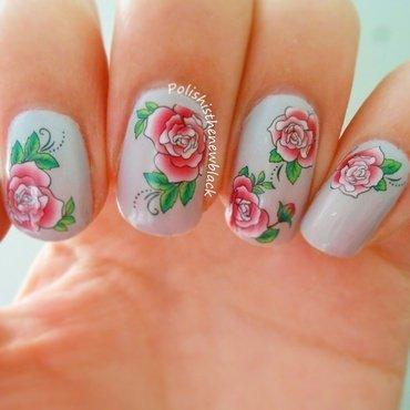 Born pretty water nail decals nail art by Polishisthenewblack