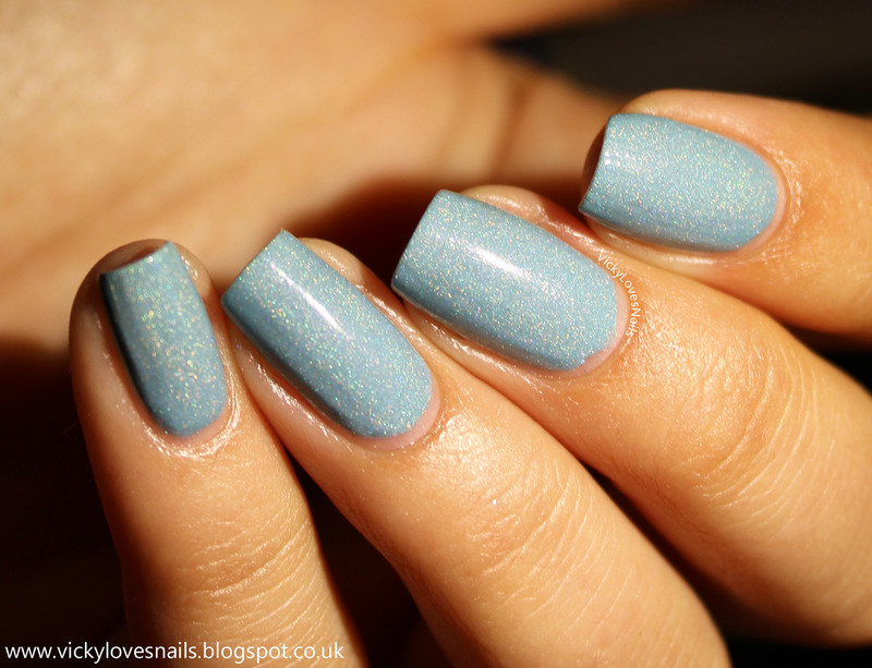 Freckles Polish blue hawaii Swatch by Vicky Standage