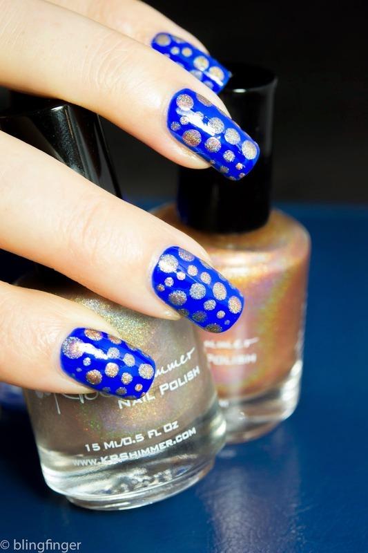 KBShimmer Dots nail art by  Petra  - Blingfinger