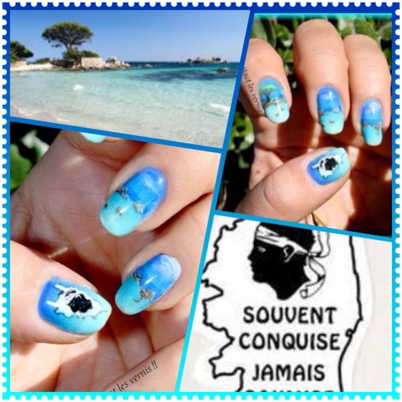 Corsica nail art by Elodie Mayer