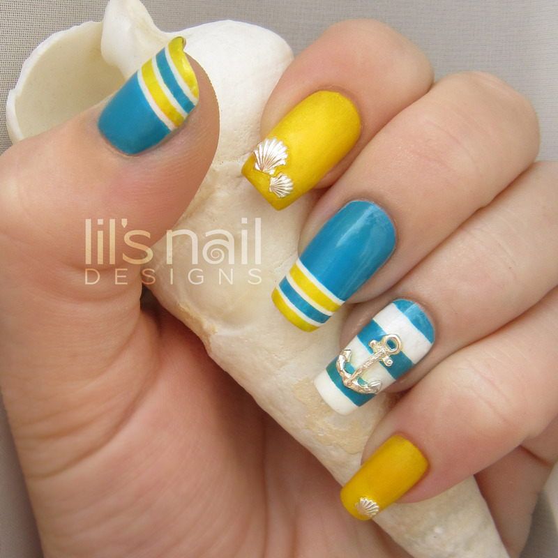 Sailors Summer nail art by Lily-Jane Verezen