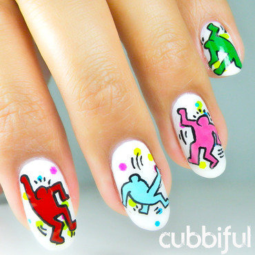Party People Nails! nail art by Cubbiful