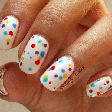 Confetti Nails nail art by PolishCookie