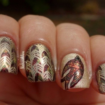 Scaling New Heights nail art by Nicky