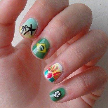 Nail art Brazil nail art by liliza