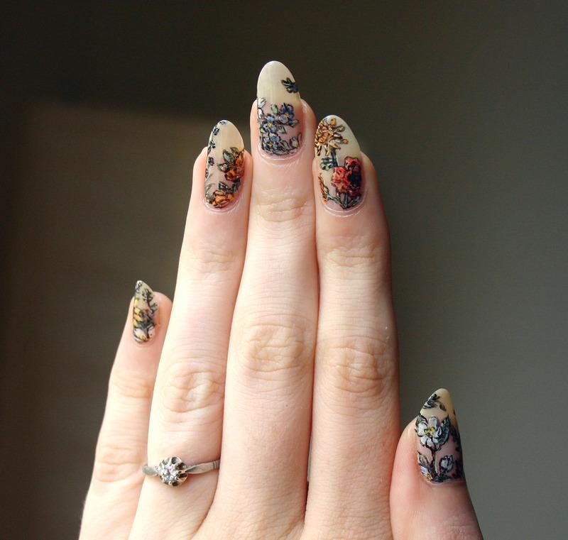 Botanical Nails nail art by ladycrappo