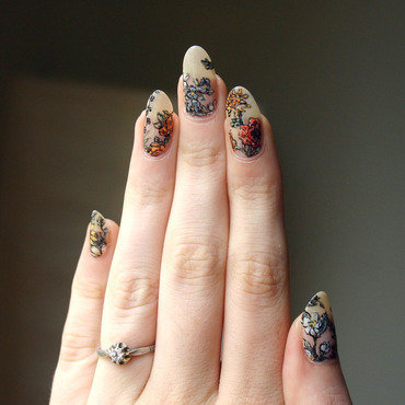 Botanical Nails nail art by ladycrappo