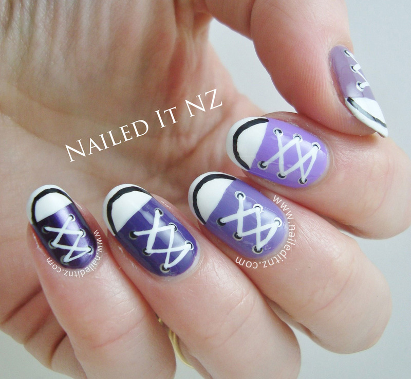 Converse Nail Art | Purple Ombre nail art by Jessie Mills ...