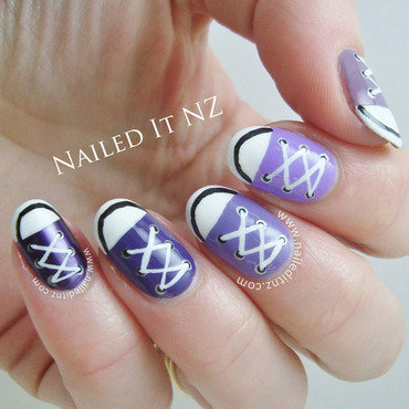 Converse Nail Art | Purple Ombre nail art by Jessie Mills