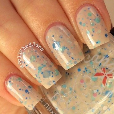 Candied Apple Polish Waves -N- Sandcastles Swatch by PolishedJess