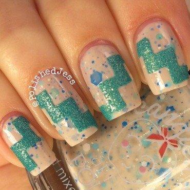 Textured Chevron  nail art by PolishedJess