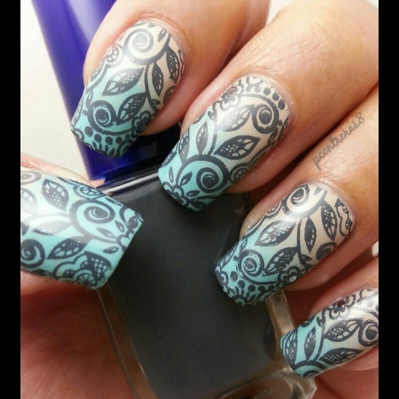 Leaves in the Wind nail art by pcontreras8nails