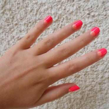 Flashy half-moon nail art by liliza