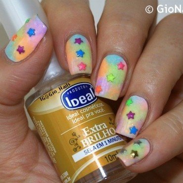 Colourful Stars nail art by Giovanna - GioNails