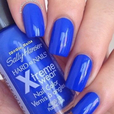Sally Hansen Pacific Blue Swatch by Giovanna - GioNails