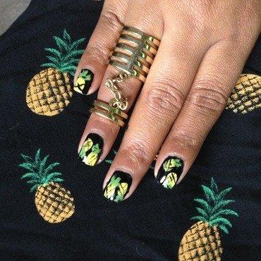 Pineapple Love nail art by Suma K