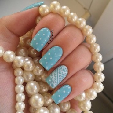 Polka Dots & Lace nail art by retronail