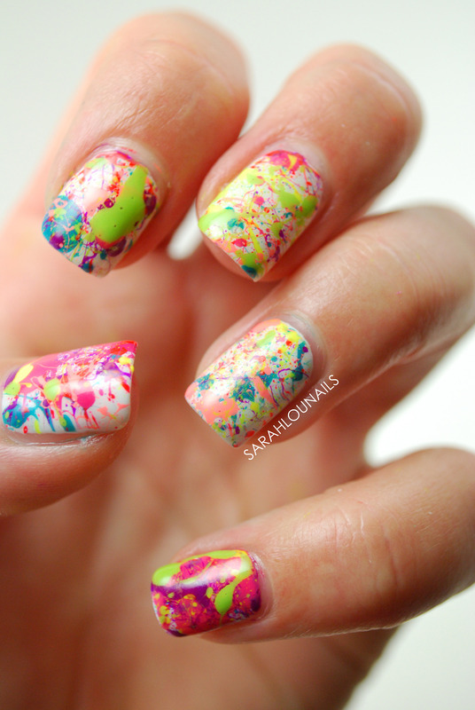 Splatter Paint Nails! nail art by Sarah S