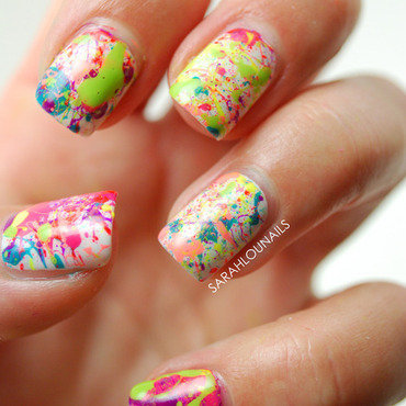 Splatter Paint Nails! nail art by Sarah S