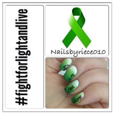 Depression Awareness nail art by Riece