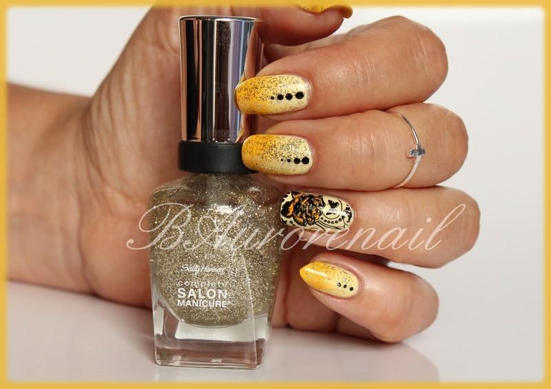 Floralie nail art by BAurorenail